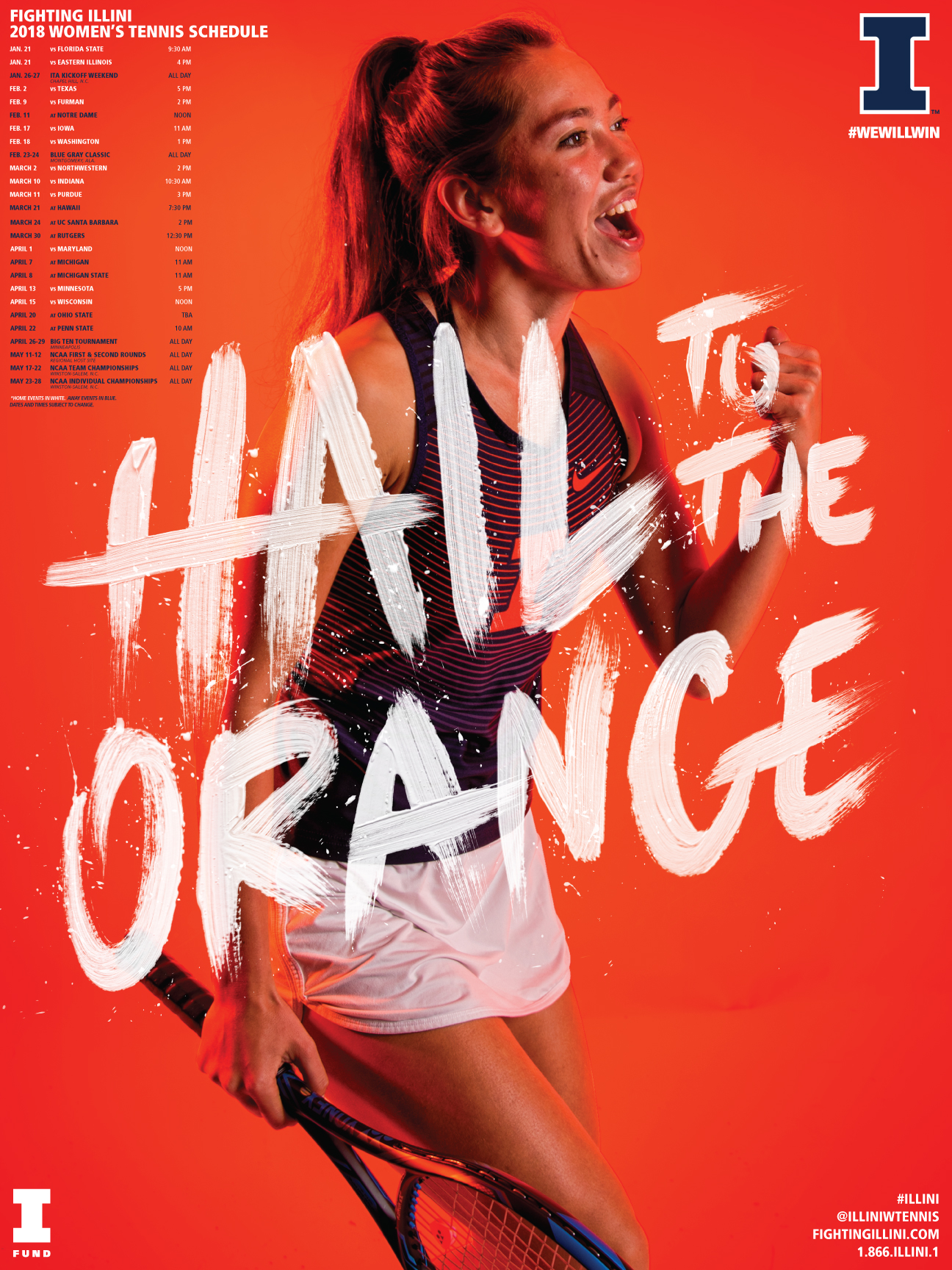 Fighting Illini Women S Tennis Posters Wallpapers Now Available University Of Illinois Athletics